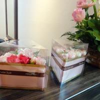 美容院の開店祝いに日比谷花壇から花を贈りました