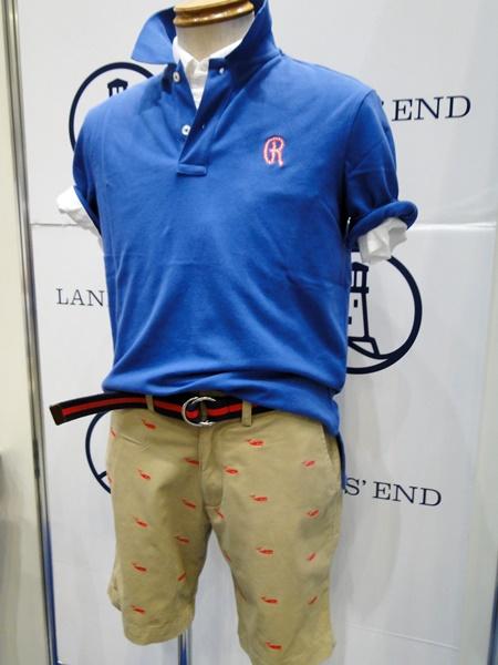 【ランズエンド LANDS'END】刺繍入りポロシャツ&パンツ