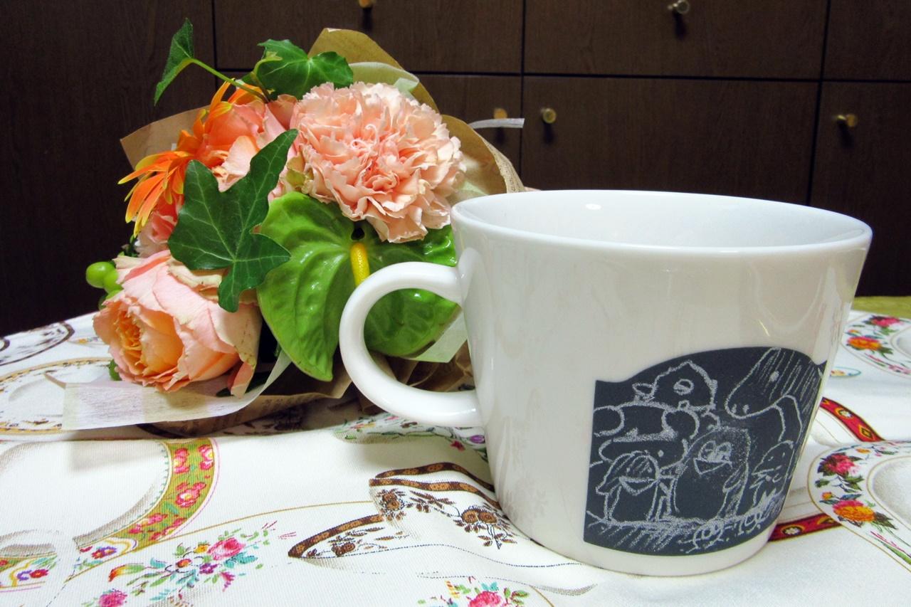 日比谷花壇オリジナルデザインのマグカップ