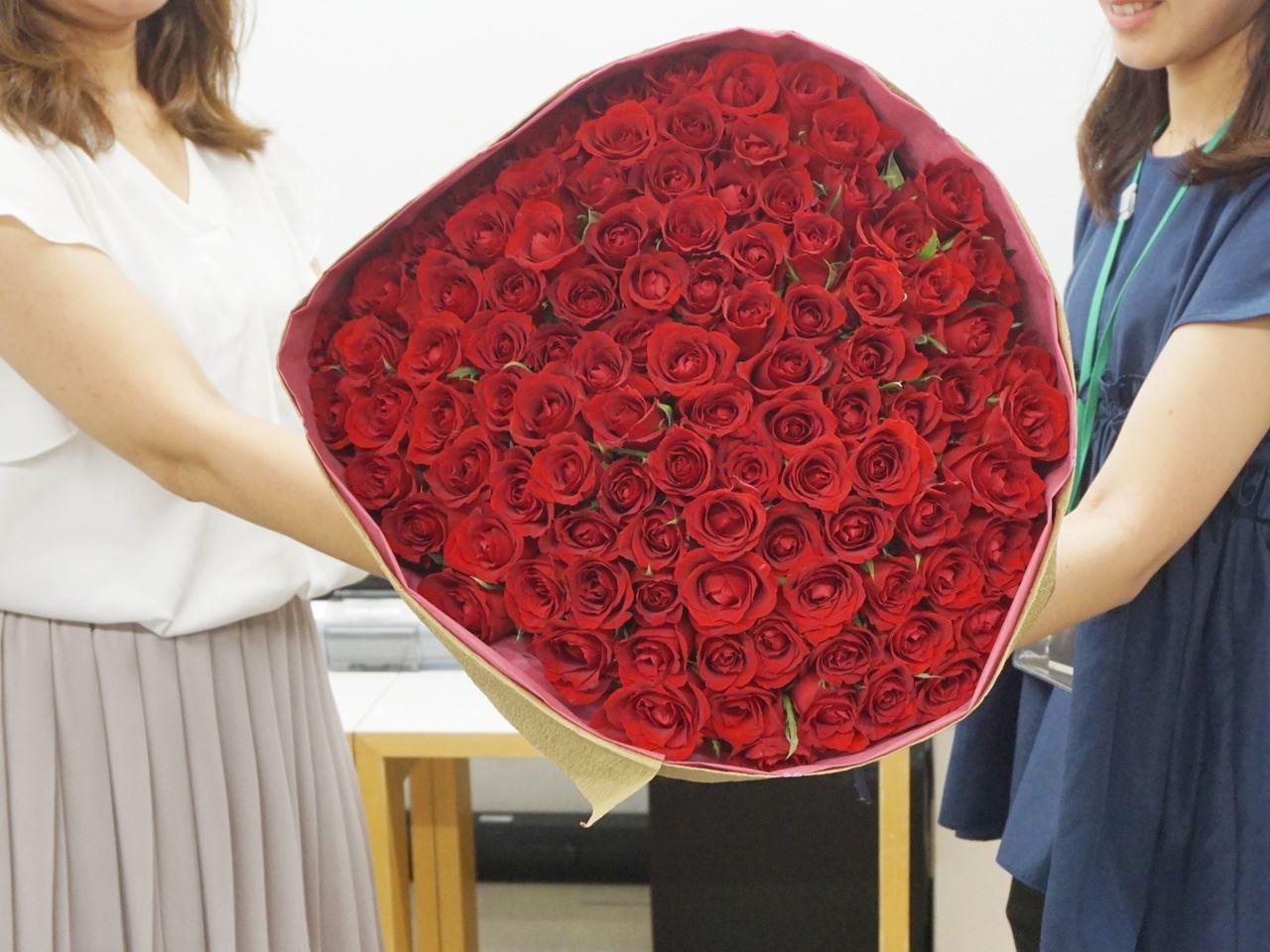 【日比谷花壇】108本のバラ