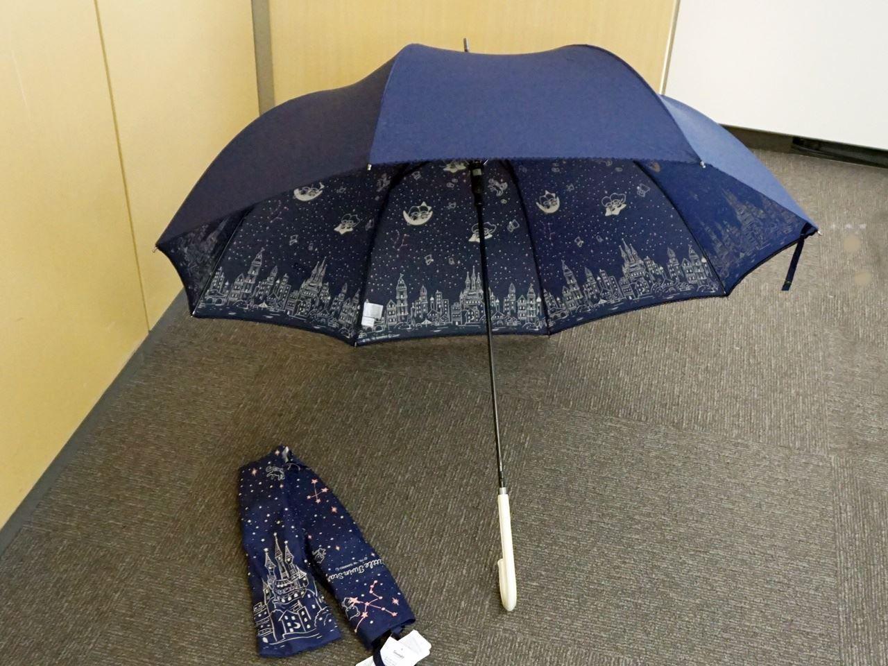 キキ&ララの内側に星空が広がる雨傘