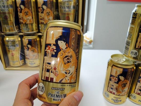 三越オリジナルギフト 杉浦非水画パッケージのサントリーザ・プレミアム・モルツ