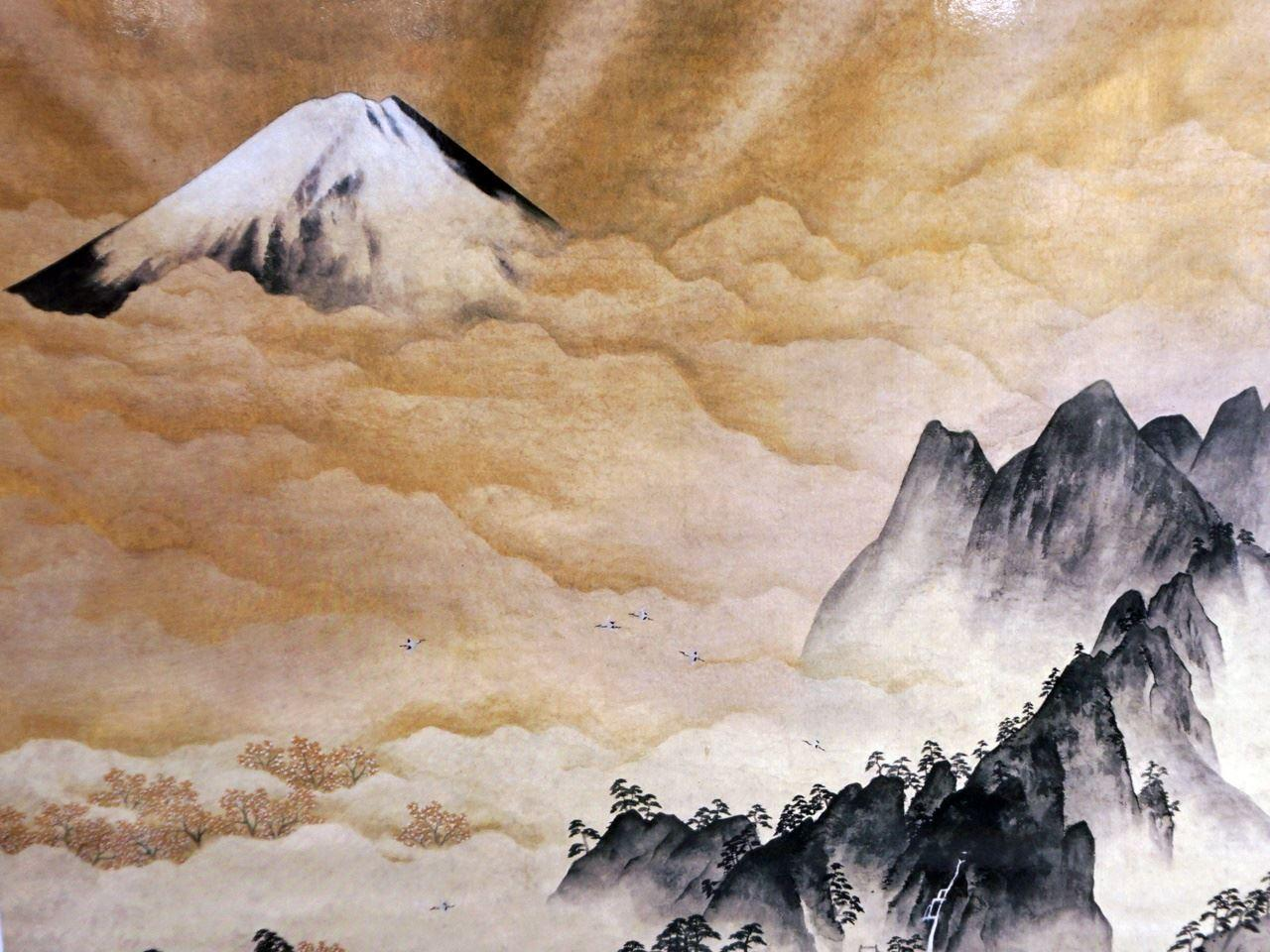 横山大観「蓬莱山」