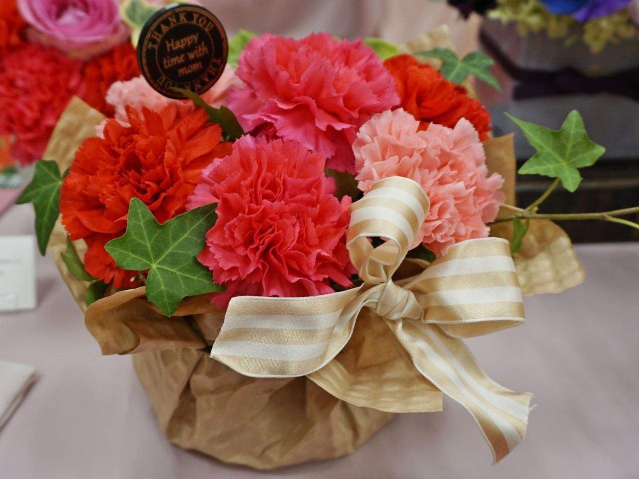 【日比谷花壇】母の日 生花のアレンジメント「シェールママン ピンク」