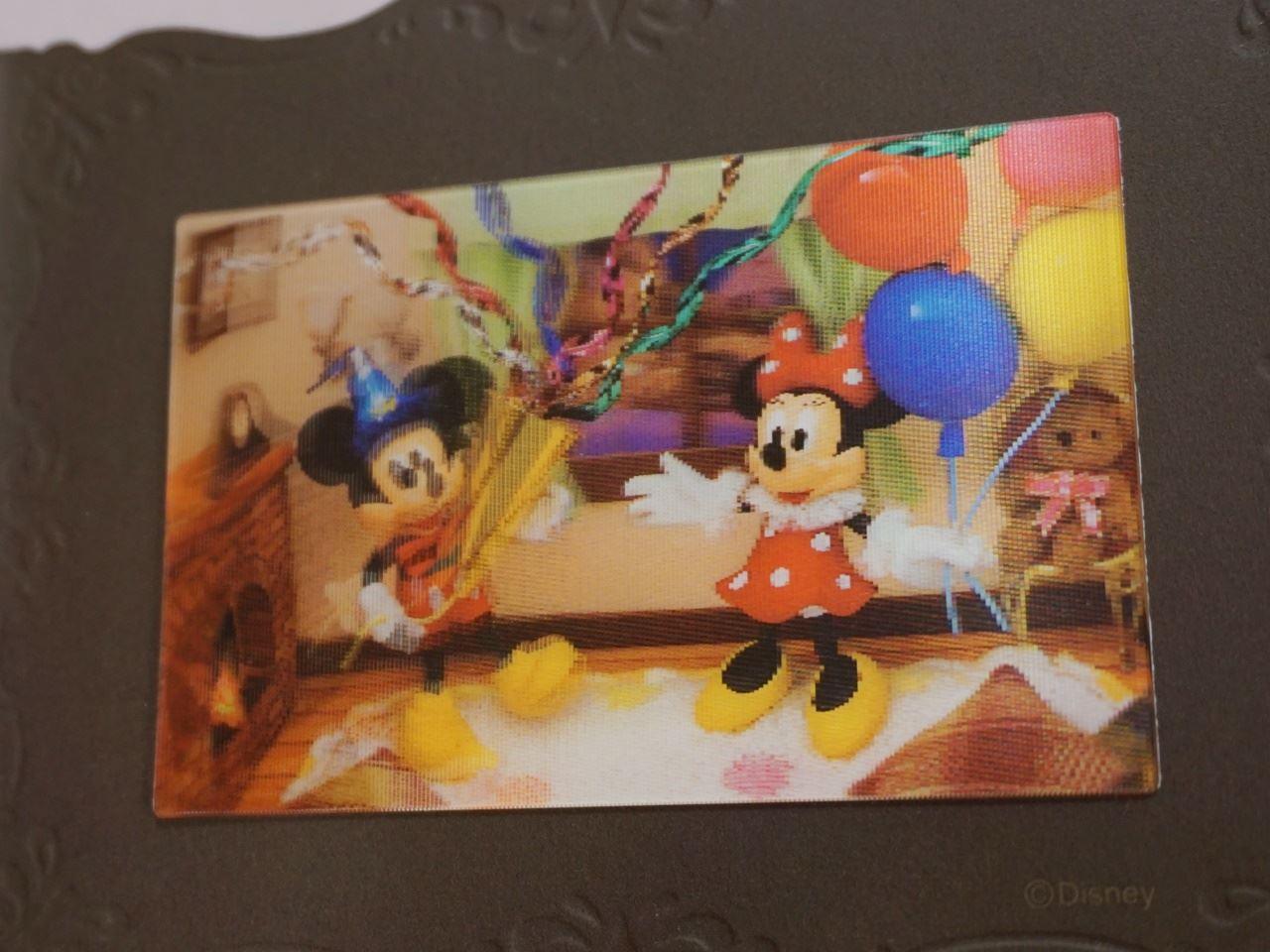 ディズニーミッキー&ミニー3Dカードの中面