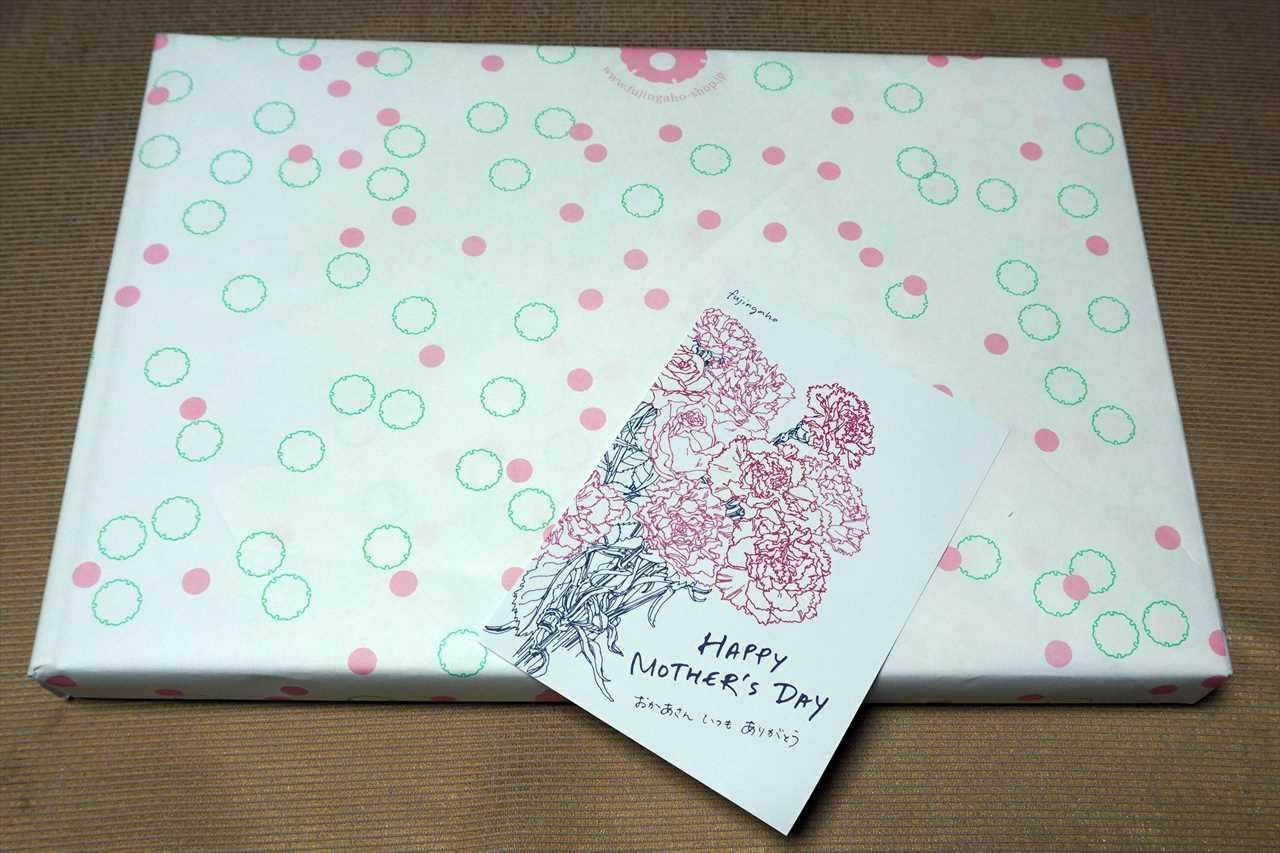 婦人画報母の日ギフトにつくカーネーションのイラストが入ったオリジナルカード