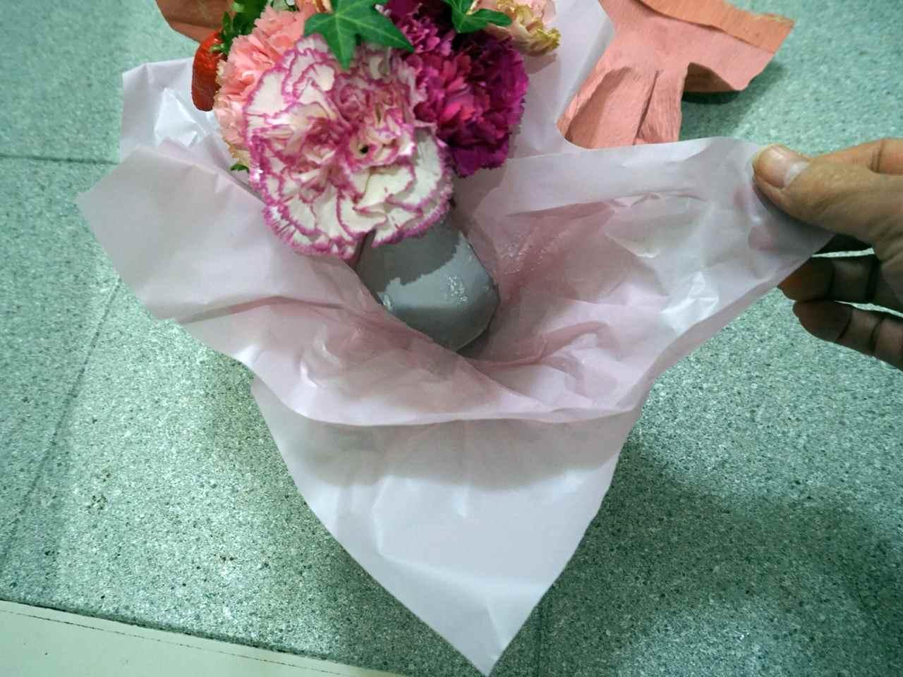 母の日 そのまま飾れるブーケ「ストロベリーピンク」
