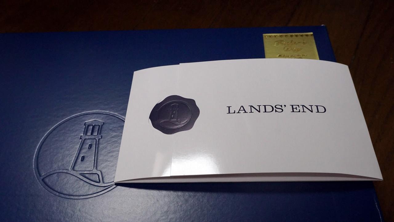 ■【ランズエンドLANDS'END】ギフトボックスとメッセージカード