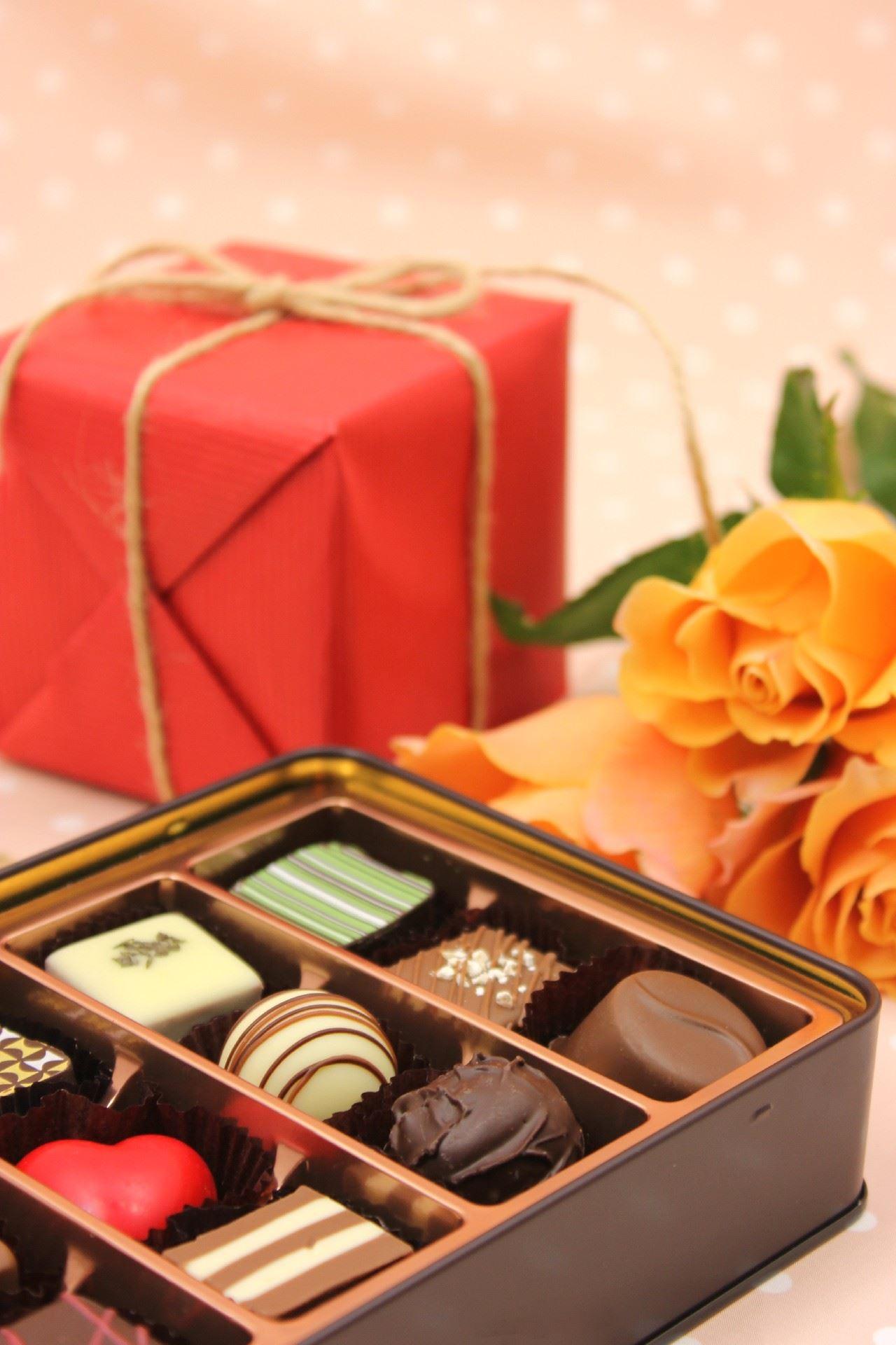 チョコレートのプレゼントのイメージ写真